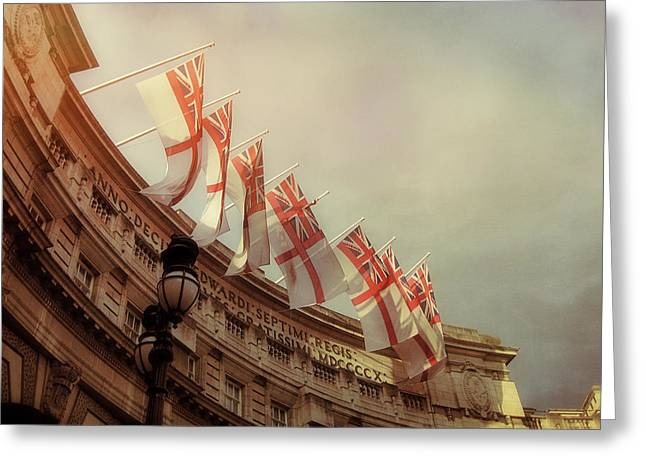 Flags Of London Greeting Card by JAMART Photography
