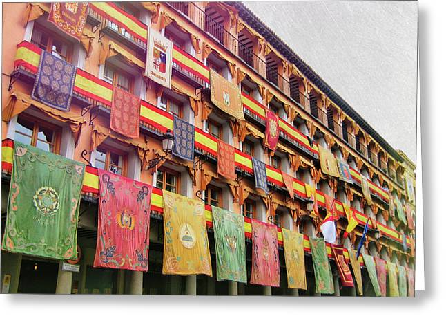 Spanish Flags Greeting Card by JAMART Photography