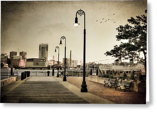 Flagship Wharf - Boston Harbor Greeting Card