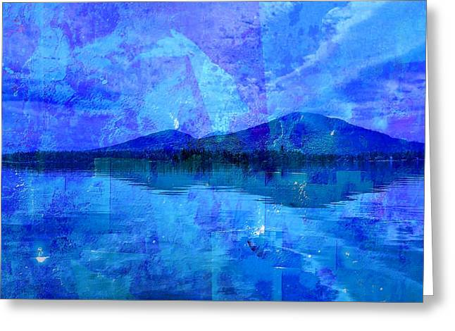 Flagstaff Lake Blu Greeting Card
