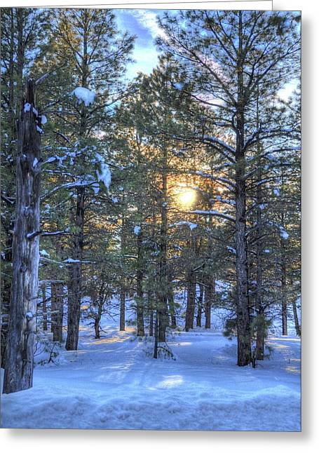 Flagstaff Sunset Greeting Card by Kelly Wade