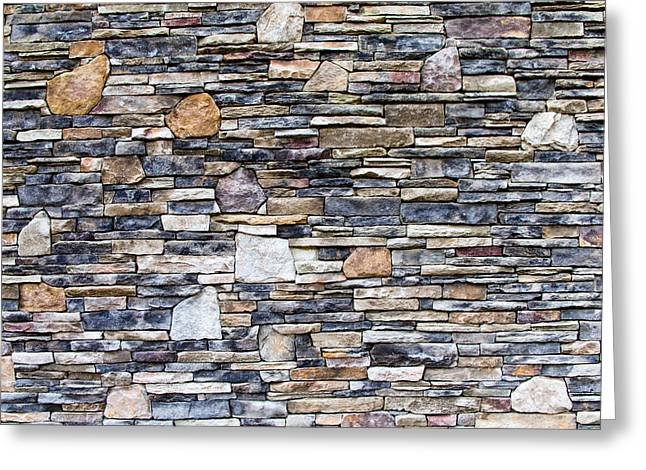 Flagstone Wall Greeting Card