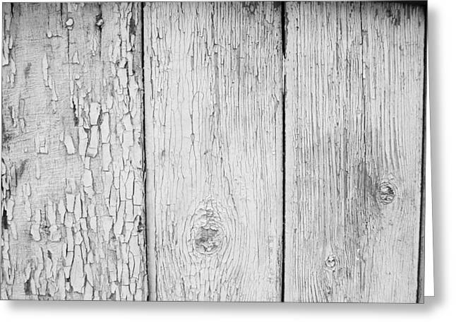 Flaking Grey Wood Paint Greeting Card by John Williams