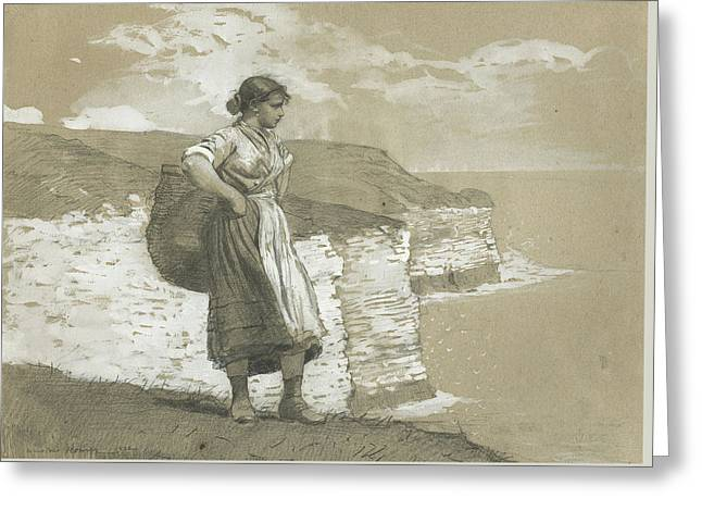 Flamborough Head, England Greeting Card by Winslow Homer
