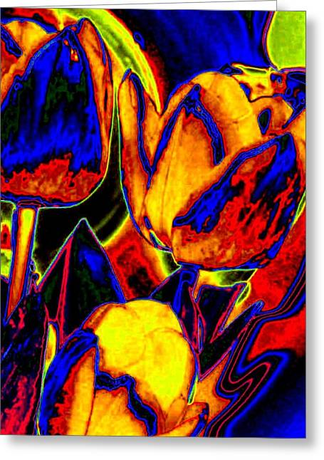 Flamboyant Tulips Greeting Card by Will Borden