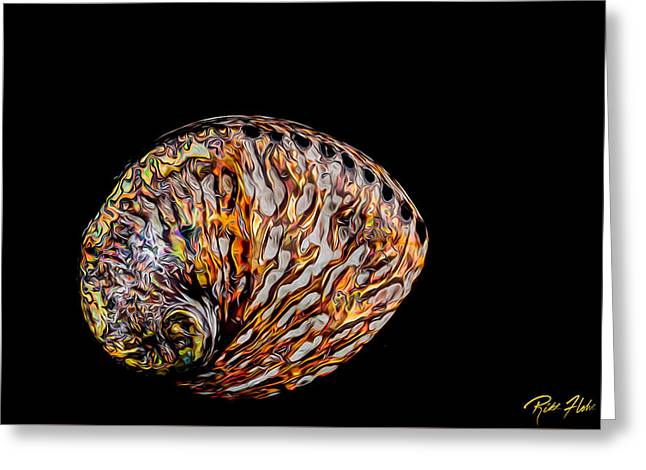 Flame Abalone Greeting Card by Rikk Flohr