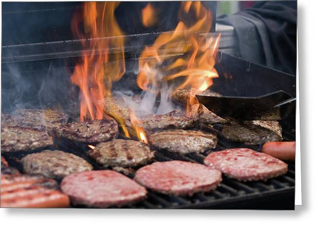Flame Broiled Greeting Card by Jim DeLillo