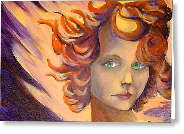 Flame Hair Greeting Card