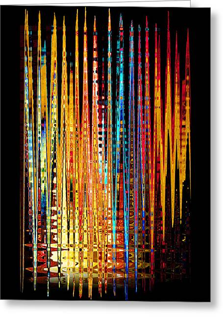 Flame Lines Greeting Card by Francesa Miller