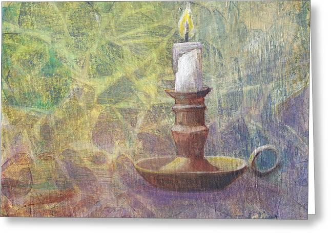 Flame Of Hope Greeting Card by Arlissa Vaughn