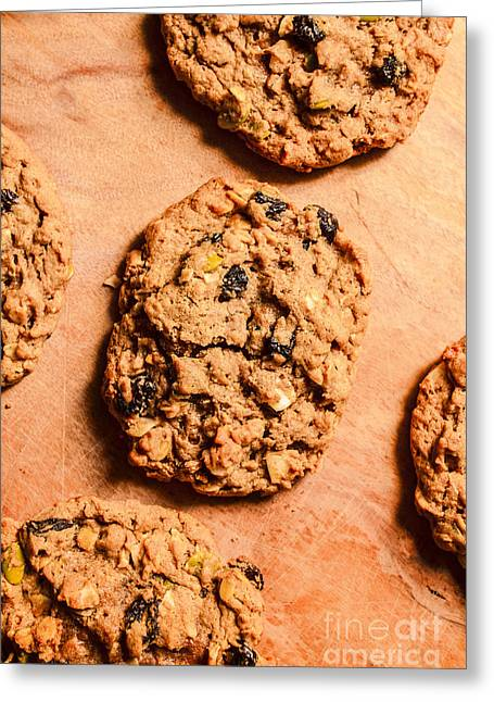 Flame Raisin And Coconut Cookies Greeting Card by Jorgo Photography - Wall Art Gallery