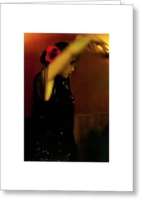 Greeting Card featuring the photograph Flamenco 37 by Catherine Sobredo
