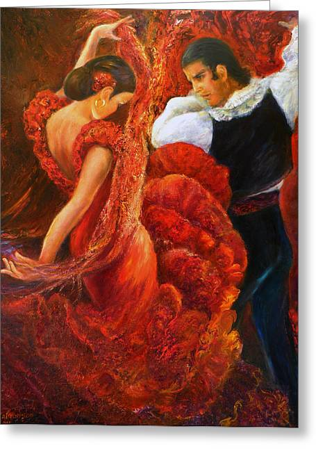Flamenco Couple 2 Greeting Card