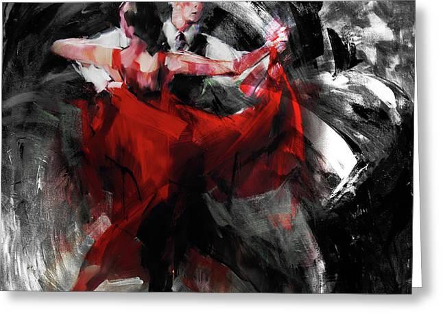 Flamenco Couple Dance  Greeting Card by Gull G