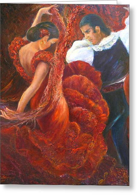 Flamenco Couple Fa Greeting Card