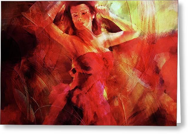 Flamenco Dance 03 Greeting Card by Gull G