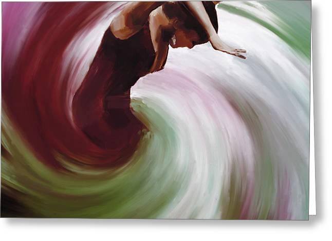 Flamenco Dance Twisting  Greeting Card