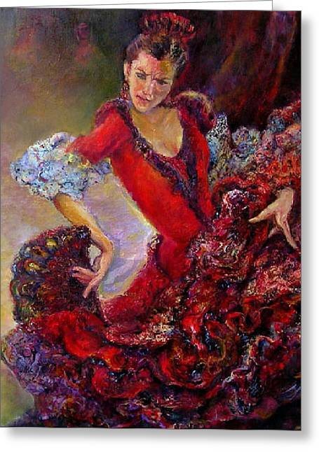 Flamenco Dancer 10 Greeting Card
