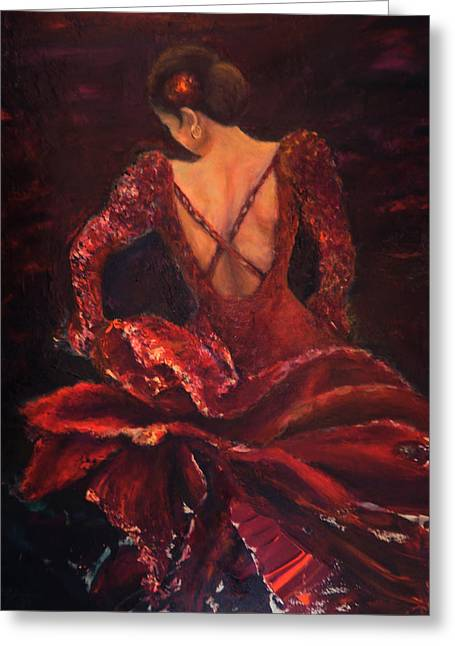 Flamenco Dancer Ma Greeting Card