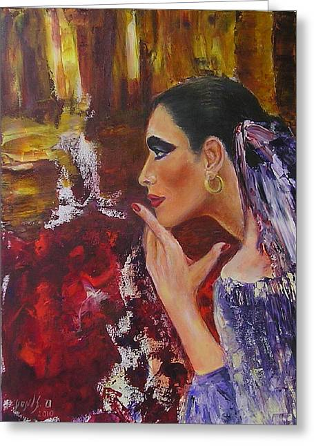 Flamenco Dancer  Mb Greeting Card