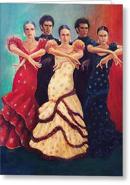 Flamenco Dancers 5 Greeting Card