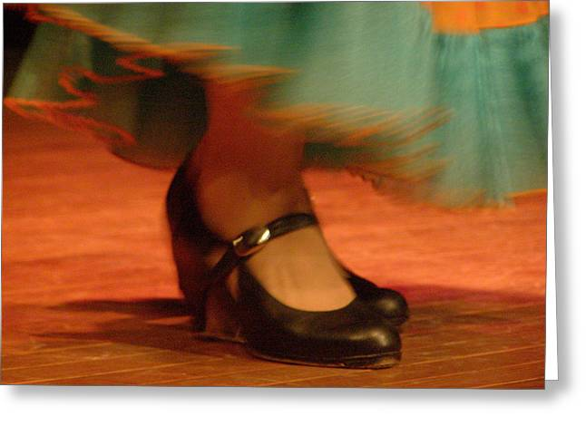 Flamenco Feet Greeting Card