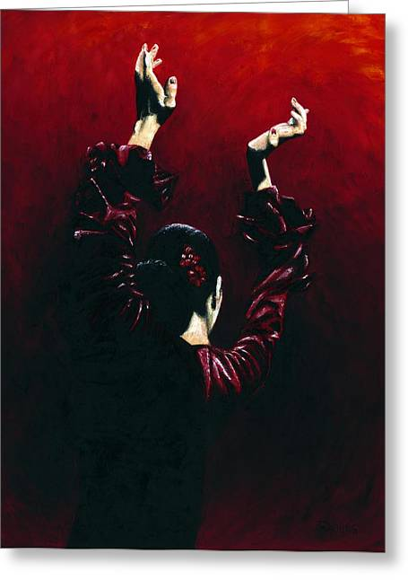 Flamenco Fire Greeting Card