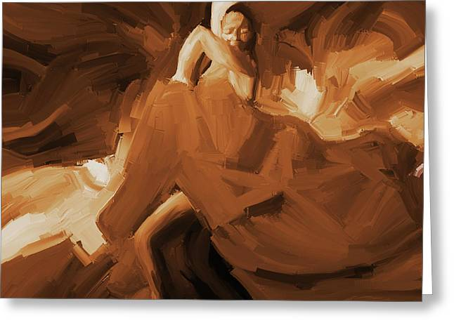 Greeting Card featuring the painting Flamenco Flamenco  by Gull G