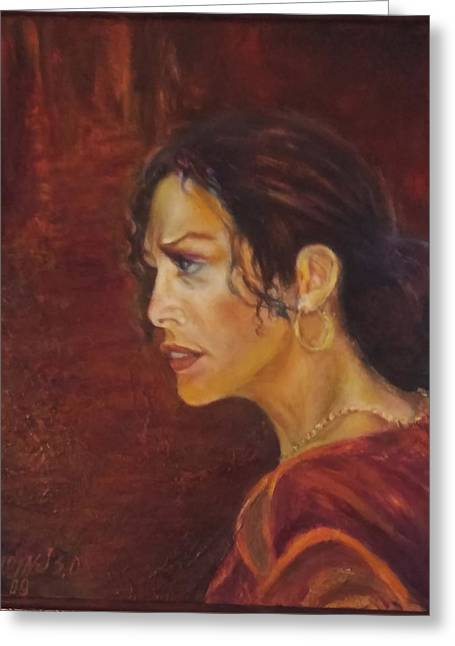 Flamenco Girl 1 Greeting Card