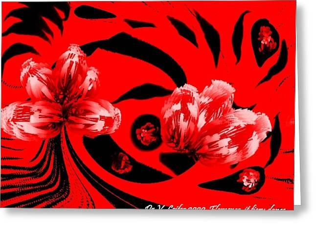 Flamenco-it Fiery Dance Greeting Card by Dr Loifer Vladimir