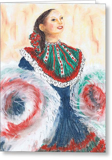 Flamenco Greeting Card by Marilyn Barton