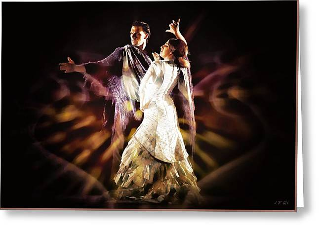Flamenco Performance Greeting Card