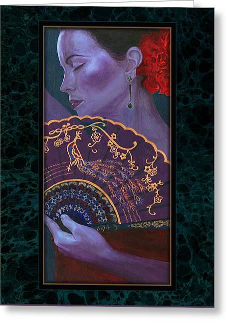 Greeting Card featuring the painting Flamenco  by Ragen Mendenhall