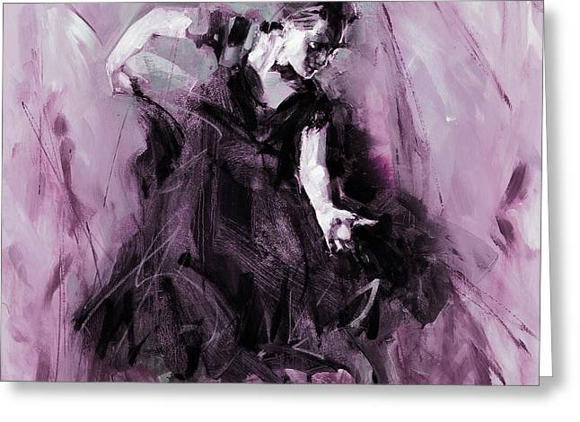 Greeting Card featuring the painting Flamenco Spanish Dance Art by Gull G