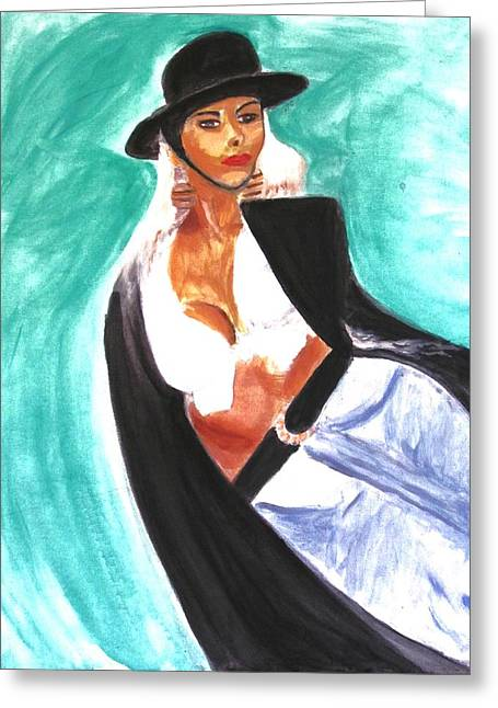 Flamenco Greeting Card by Stanley Morganstein