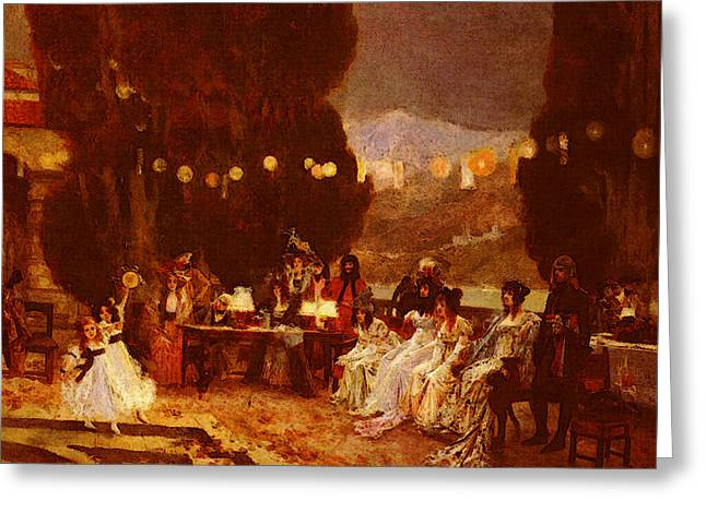 Flameng Francois An Evening S Entertainment For Josephine Greeting Card