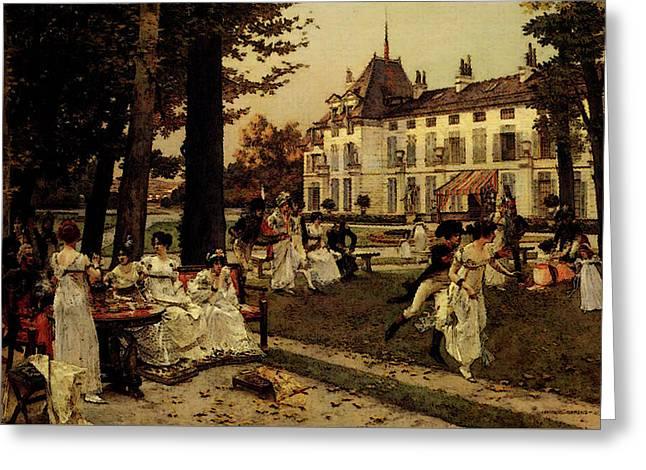Flameng Francois Reception At Malmaison In  Greeting Card