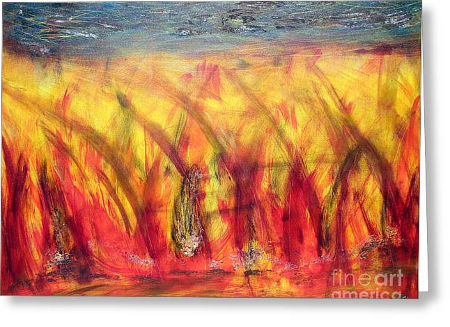 Flames Inferno Greeting Card by Sascha Meyer