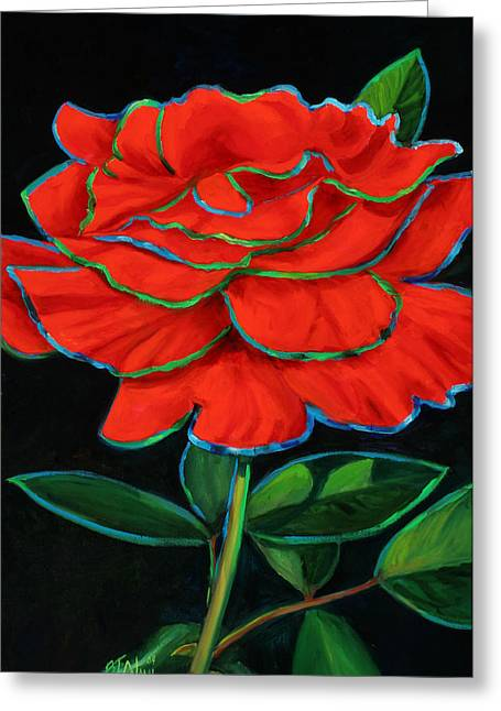 Flaminco Rose Greeting Card by Billie Colson