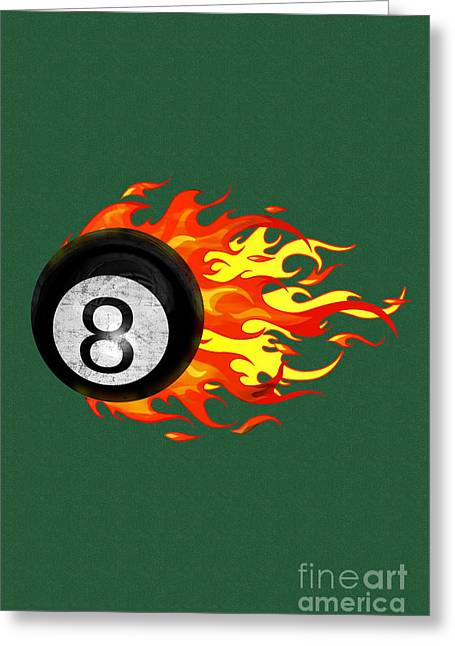 Snooker ball greeting cards page 4 of 5 fine art america flaming 8 ball greeting card m4hsunfo