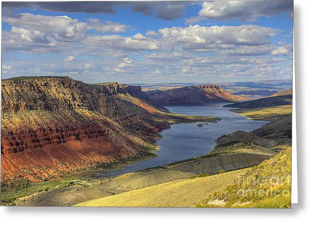 Flaming Gorge Greeting Card by Spencer Baugh