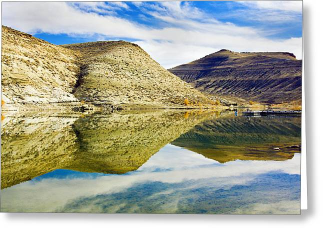 Flaming Gorge Water Reflections Greeting Card
