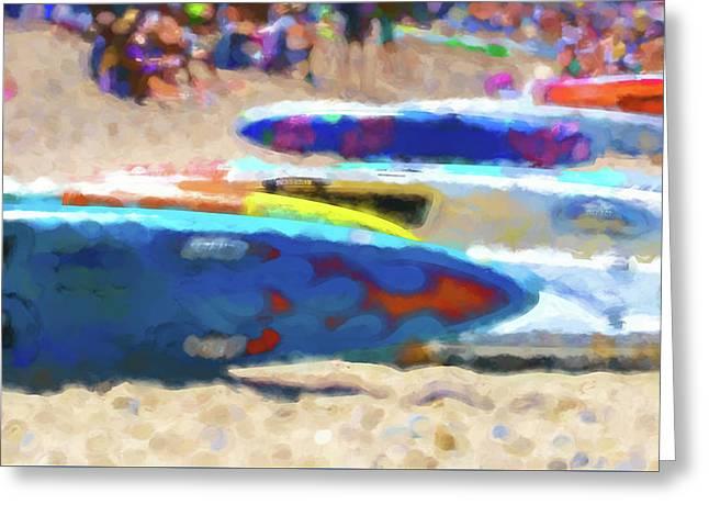 Flaming Kayak Watercolor 1 Greeting Card
