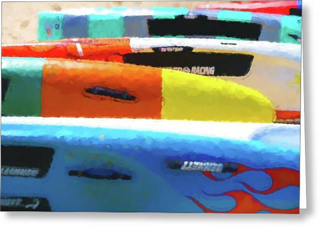 Flaming Kayak Watercolor 2 Greeting Card