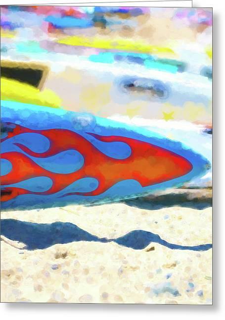 Flaming Kayak Watercolor 4   Greeting Card