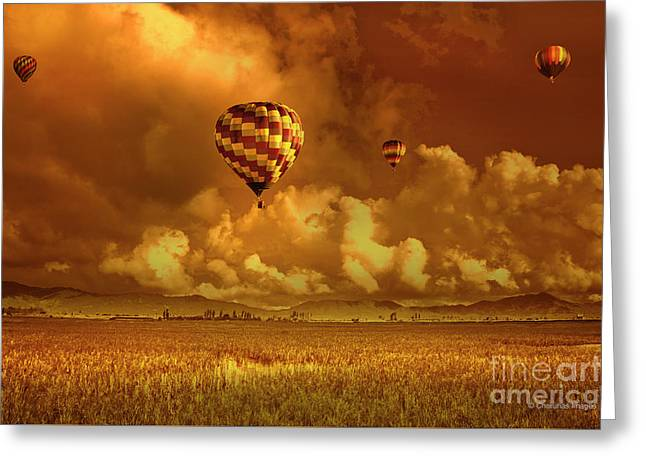 Greeting Card featuring the photograph Flaming Sky by Charuhas Images