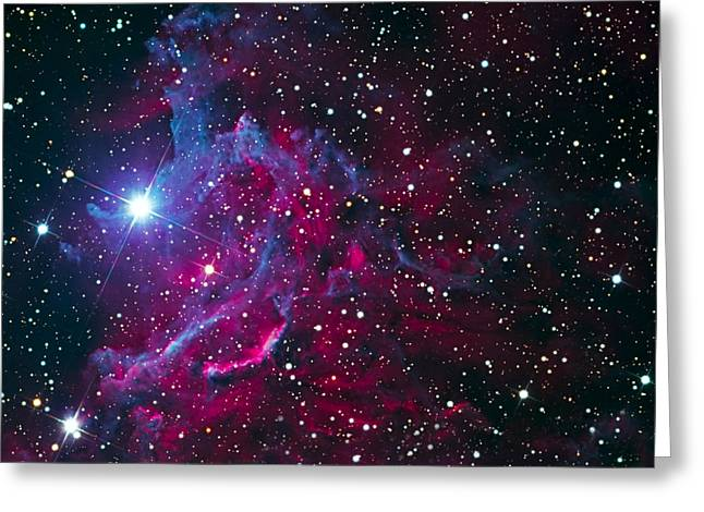 Flaming Star Nebula Greeting Card by Jim DeLillo