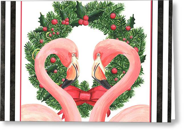 Flamingo Amore 1 Greeting Card by Debbie DeWitt