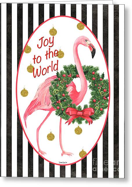 Flamingo Amore 2 Greeting Card by Debbie DeWitt