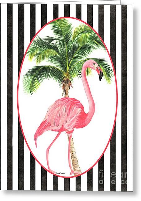 Flamingo Amore 7 Greeting Card by Debbie DeWitt